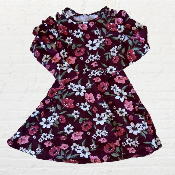 🍍THE CHILDRENS PLACE fit and flare floral dress